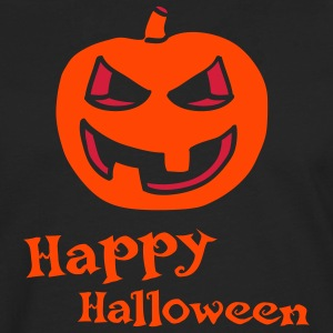 halloween_pumpkin_2c_happy_halloween_bla Tabliers - T-shirt manches longues Premium Homme