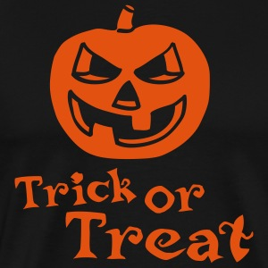halloween_pumpkin_1c_trick_or_treat_blac Tabliers - T-shirt Premium Homme