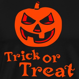 halloween_pumpkin_2c_trick_or_treat_blac Forklæder - Herre premium T-shirt