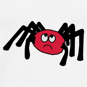 little scared spider Buttons - Men's Premium T-Shirt