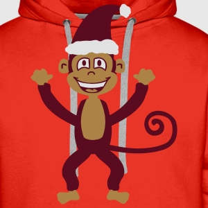 Christmas Monkey  Aprons - Men's Premium Hoodie