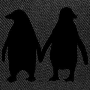 Penguins in love - love each other penguins Men's T-Shirts - Snapback Cap