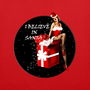 i believe in santa T-shirts - Tygväska