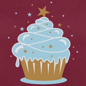 Cupcake with stars and Nonpareils  Aprons - Women's Oversize T-Shirt