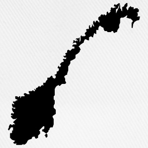 norway map T-shirts - Basebollkeps