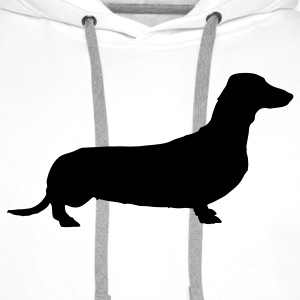 weiner dog T-Shirts - Men's Premium Hoodie