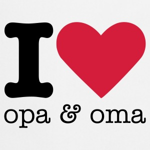 I Love Opa & Oma Baby body - Keukenschort