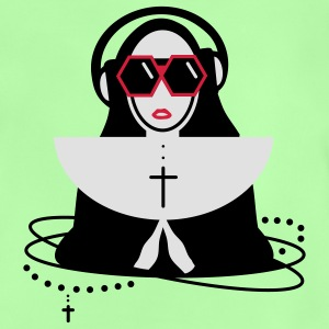 The nun  with sunglasses and headphones Kids' Tops - Baby T-Shirt