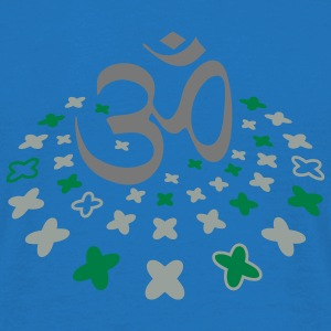 The Om sign in the flower circle Umbrellas - Men's T-Shirt