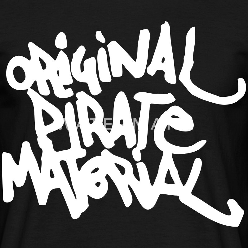 Original Pirate Material Logo T-Shirts - Men's T-Shirt