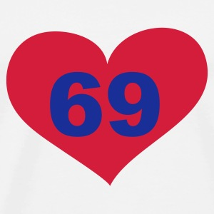 69 Love, Liebe, Heart, 69, Herz, Sex, Hot, Heiss, Pervers, Singles, Saufen, Party - eushirt.com Buttons / Anstecker - T-shirt Premium Homme