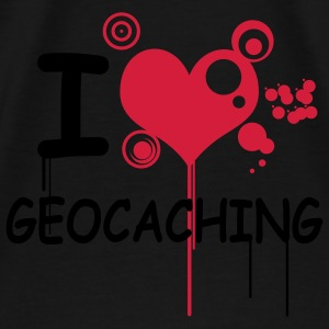 I love geocaching 2color - T-shirt Premium Homme