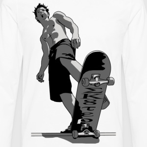 skate boarder 01 - T-shirt manches longues Premium Homme