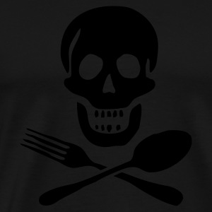 Eating skull, Totenkopf, food, Essen, skull, Geschenke, gifts, Geburtstag, birthday, Party, www.eushirt.com - Men's Premium T-Shirt