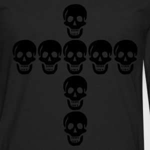 Skull cross, Totenkopf, Kreuz, cross, skull,  - Men's Premium Longsleeve Shirt