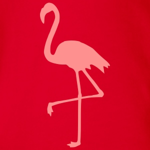 Flamingo Kinder T-Shirts - Baby Bio-Kurzarm-Body