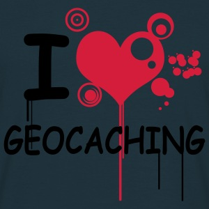 i love geocaching - 2color - Men's T-Shirt