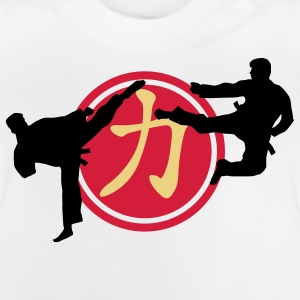 chinese_sign_strength_karate_a_3c Camisetas - Camiseta bebé
