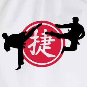 chinese_sign_victory_karate_a_2c Kinder T-Shirts - Turnbeutel