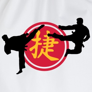 chinese_sign_victory_karate_a_3c Camisetas - Mochila saco