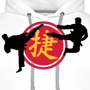 chinese_sign_victory_karate_a_3c Shirts - Men's Premium Hoodie