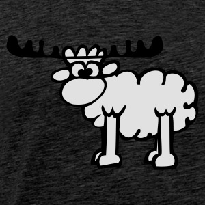 Reindeer - Sheep Gensere - Premium T-skjorte for menn
