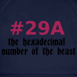 Navy 666 - satan - devil - the hexadecimal  number of the beast - 29A T-Shirts - Baseball Cap