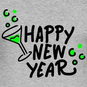 happy new year Pullover - Männer Slim Fit T-Shirt
