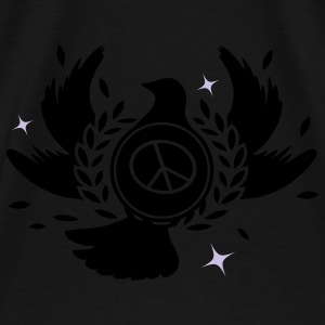 A peace dove with laurel wreath and peace sign  Bags  - Men's Premium T-Shirt