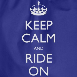Keep Calm and Ride On Small Kids' Tops - Drawstring Bag