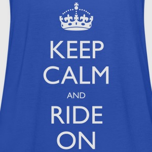 Keep Calm and Ride On Small Kids' Tops - Women's Tank Top by Bella