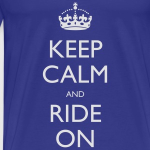 Keep Calm and Ride On Small Kids' Tops - Men's Premium T-Shirt