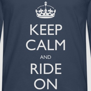 Keep Calm and Ride On Small Kids' Tops - Men's Premium Longsleeve Shirt