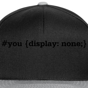 you.display.none // t.shirt (frontprint) - Snapback Cap