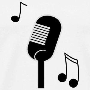 music microphone Mugs  - Men's Premium T-Shirt