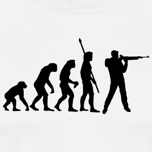 evolution_sportschuetze_b_1c  Aprons - Men's Premium T-Shirt