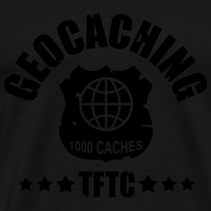 geocaching - 1000 caches - TFTC / 1 color Tröjor - Premium-T-shirt herr