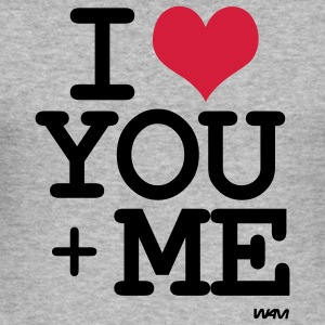 i love you + me Tröjor - Slim Fit T-shirt herr