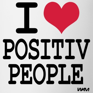 i love positiv people T-shirts - Mugg