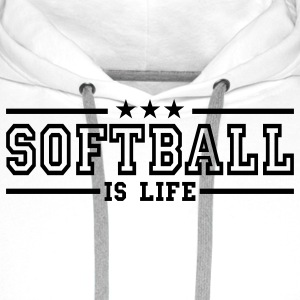 softball is life deluxe Babybody - Premium hettegenser for menn