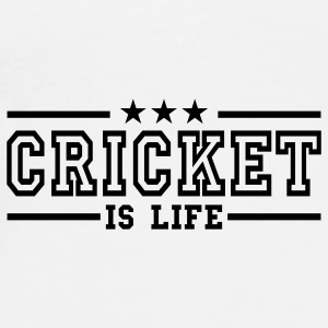 cricket is life deluxe Mokken - Mannen Premium T-shirt