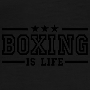 boxing is life deluxe Paraplyer - Herre premium T-shirt