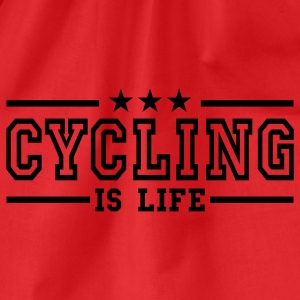 cycling is life deluxe T-shirts - Gymtas