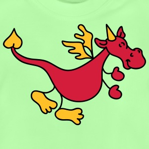 Netter roter Drache Kinder Pullover - Baby T-Shirt