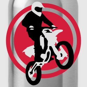 motorbike_stunt_e_3c Shirts - Water Bottle