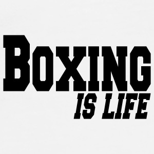 boxing is life Buttons / Anstecker - Männer Premium T-Shirt