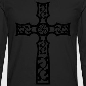 tribal_cross_a_1c Tabliers - T-shirt manches longues Premium Homme