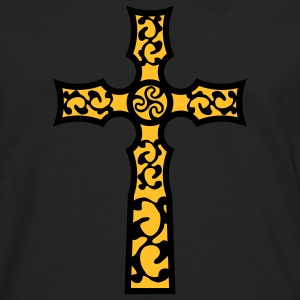 tribal_cross_a_2c T-shirts - Långärmad premium-T-shirt herr