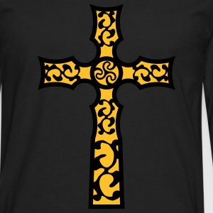 tribal_cross_a_2c Shirts - Men's Premium Longsleeve Shirt