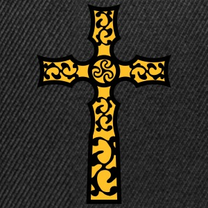 tribal_cross_a_2c T-shirts - Snapback Cap